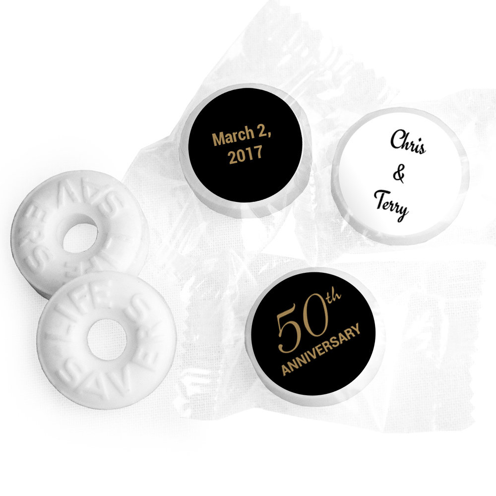 Personalized Anniversary Party Favors | Wedding Anniversary Candy