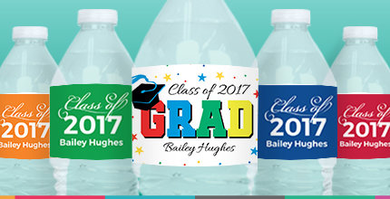 personalized graduation labels for water bottles