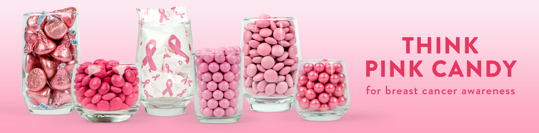 shop pink candy for breast cancer awareness