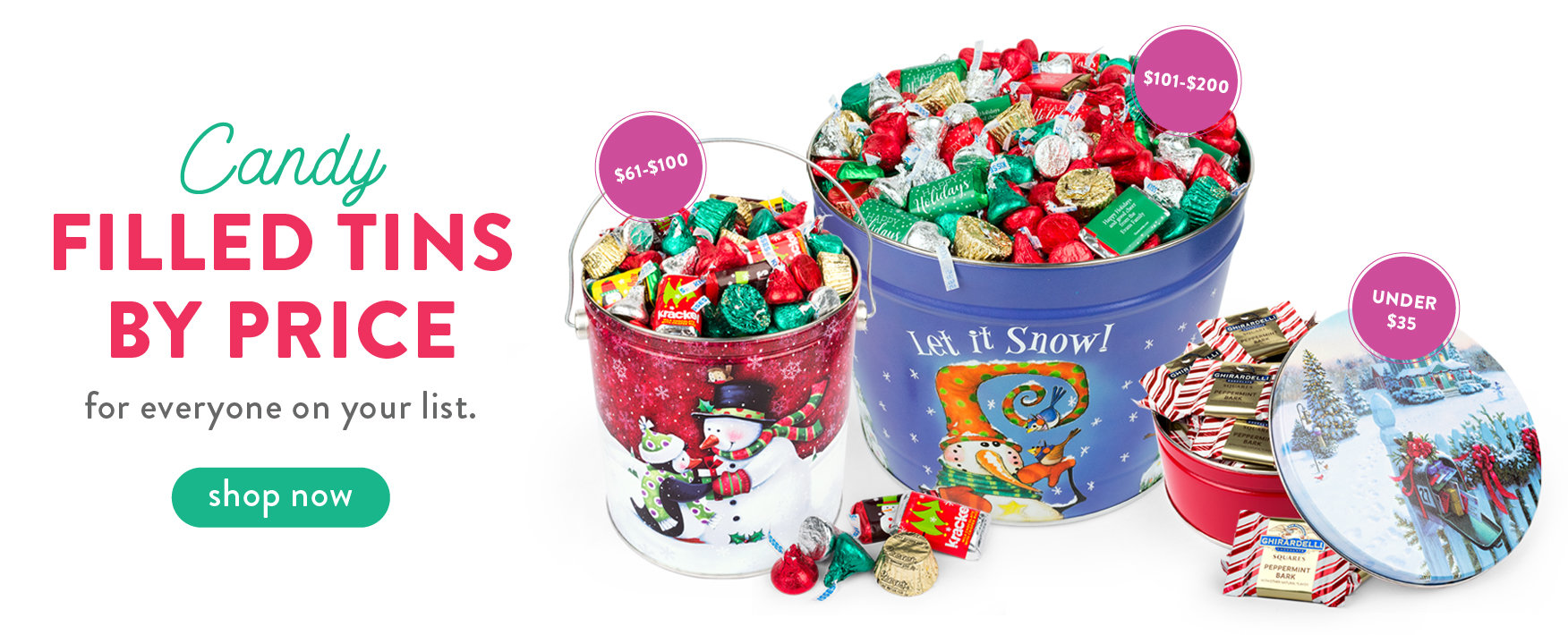 Candy Filled Tins by Price