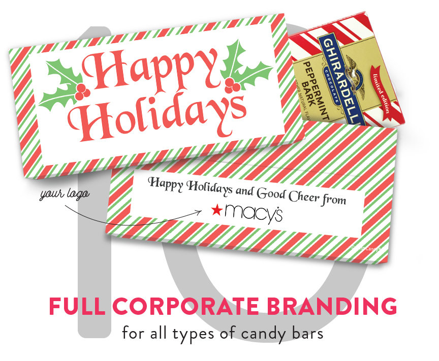 Full Corporate Branding for all types of candy bars
