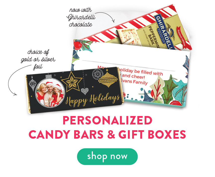 Personalized Candy Bars & Gift Boxes