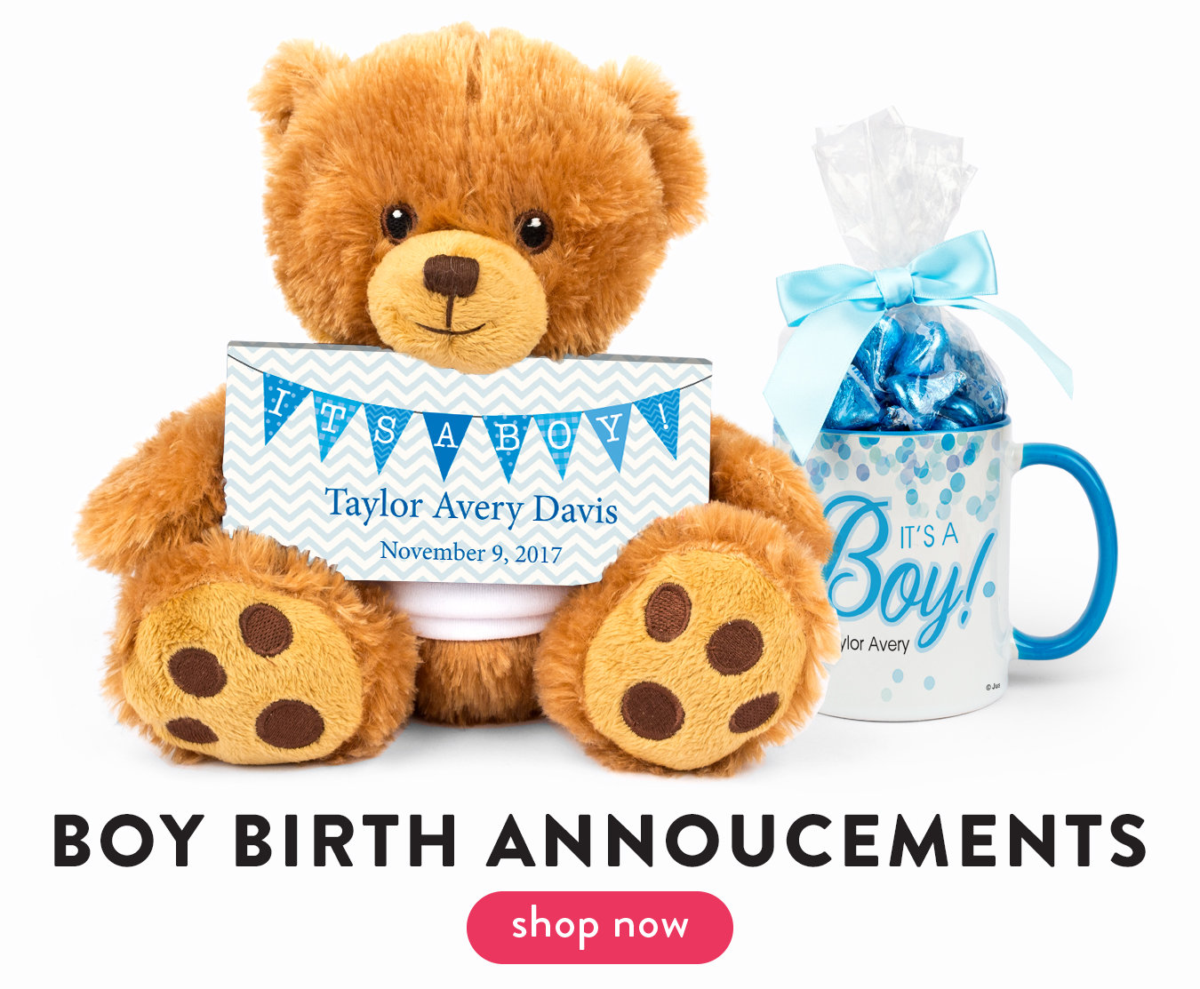 Shop Boy Birth Announcements