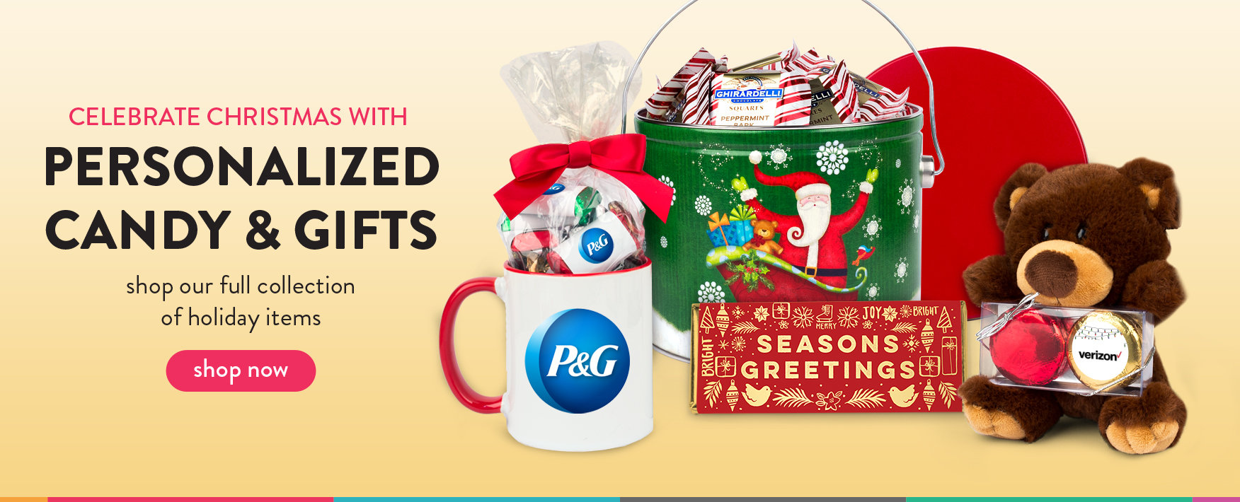 shop our full holiday collection of personalized candy favors and gifts