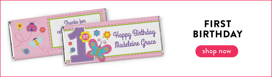 personalized kids birthday chocolate bars