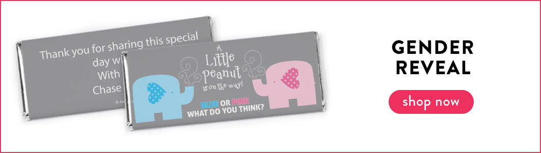 personalized gender reveal candy bars