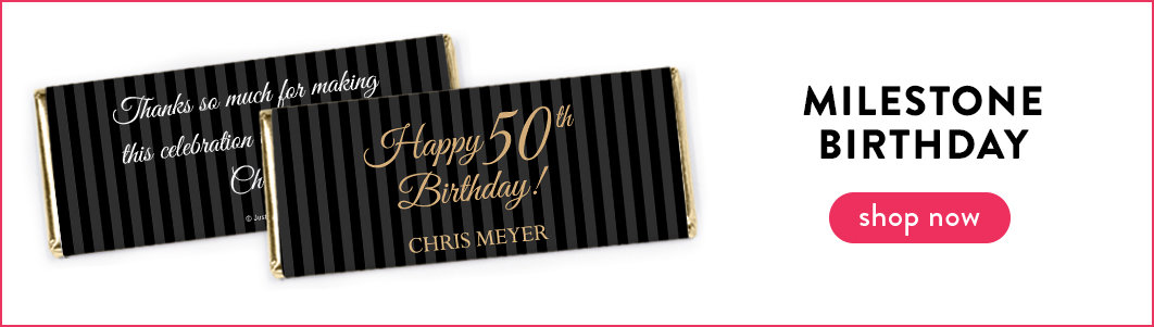 personalized adult birthday chocolate bars