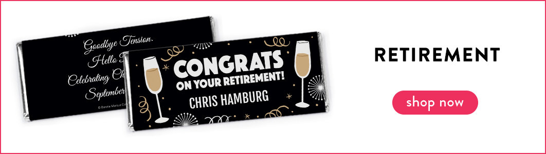 shop personalized retirement chocolate bars