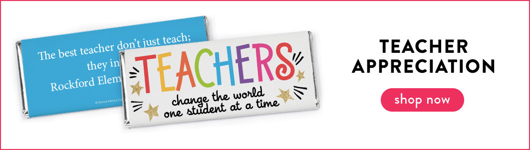 personalized teacher appreciation chocolate bars