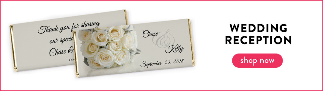 personalized wedding reception candy bars