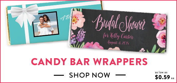 shop personalized candy bar wrappers