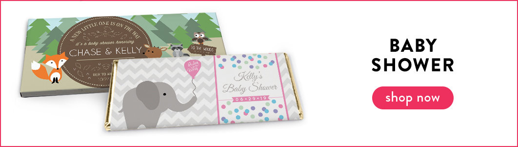 personalized baby shower candy bar wrappers and boxes