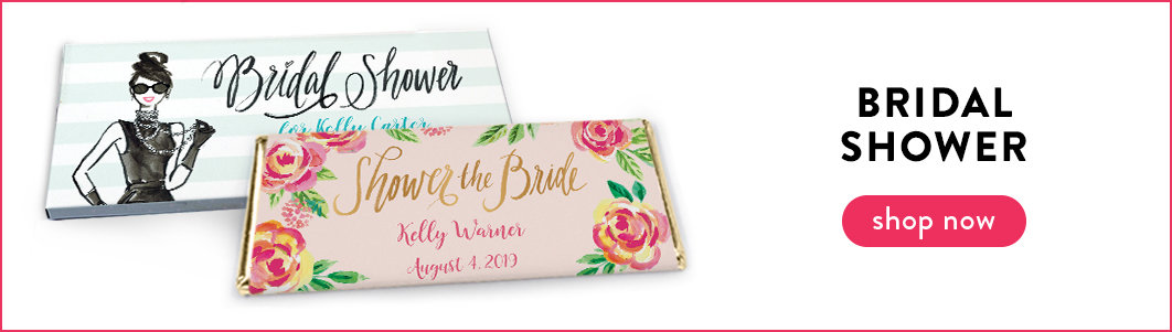 personalized bridal shower wrappers & boxes