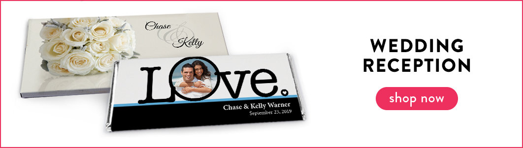 personalized wedding reception wrappers & boxes