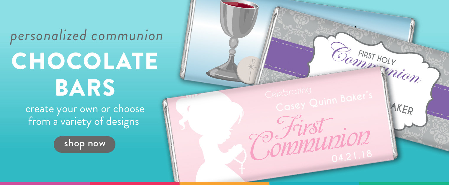 shop personalized First Communion candy