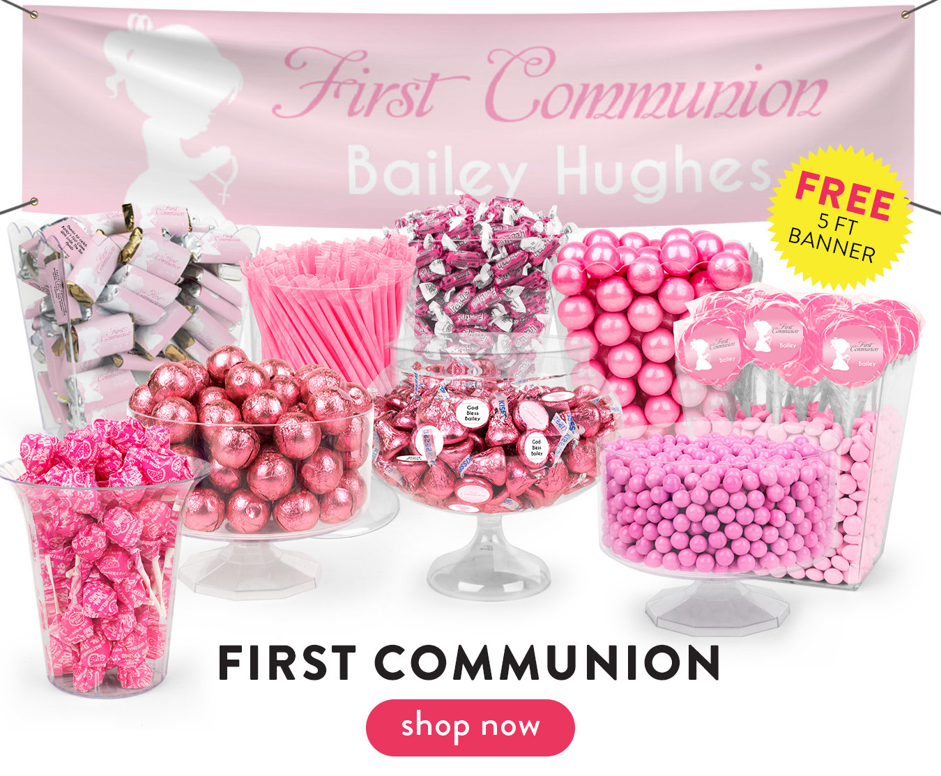 1st Communion Candy Tables