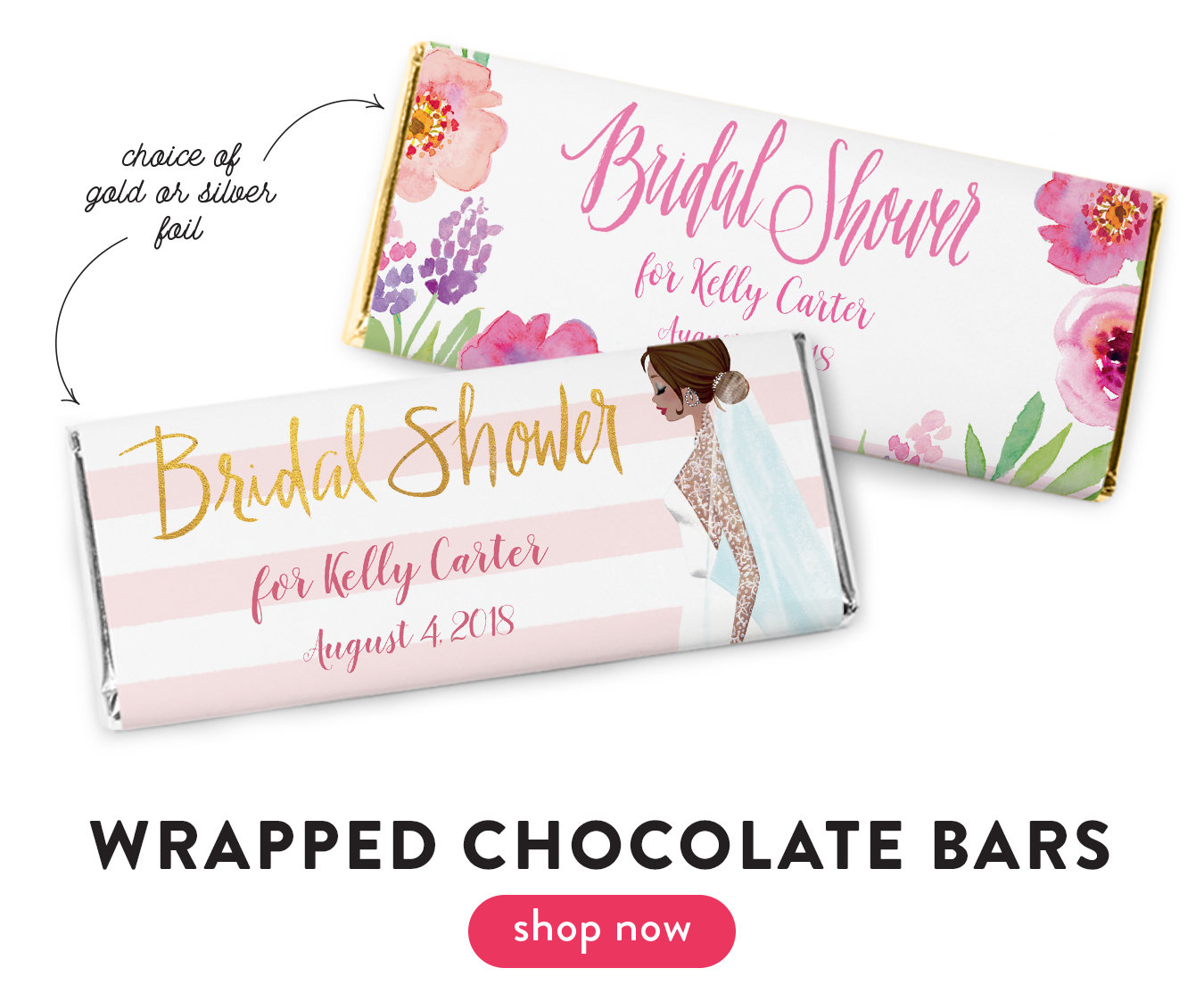 Personalized Bridal Shower Favors | Personalized Chocolate and Candy
