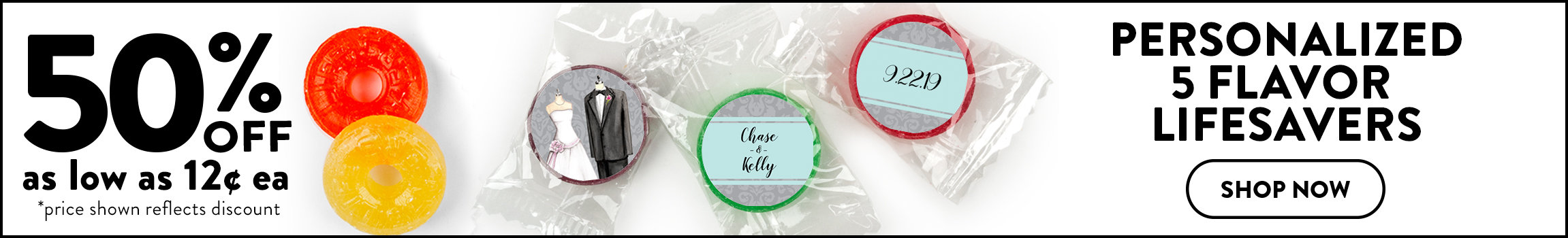 Personalized Wedding Reception Favors | Wedding Reception Candy