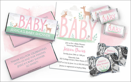 Shop Coordinating Baby Shower Invitations and Favors