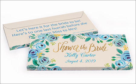 Personalized Gift Boxes with Candy Bar Bridal Shower