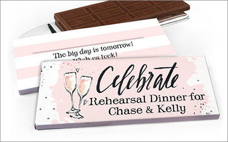Personalized Gift Box with Candy Bar Rehearsal Dinner