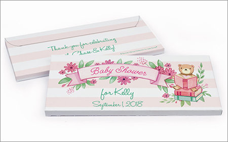 Girl Baby Shower Personalized Gift Box with Candy Bar