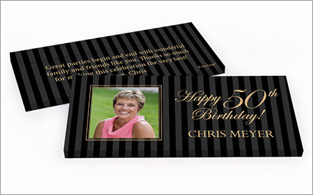 Milestone Birthday Personalized Gift Box with Candy Bar