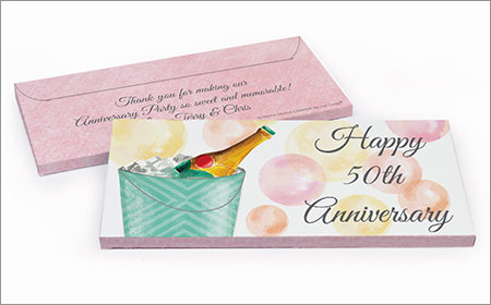 Anniversary Personalized Gift Box with Candy Bar
