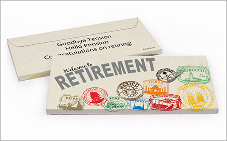 Retirement Personalized Gift Box with Candy Bar
