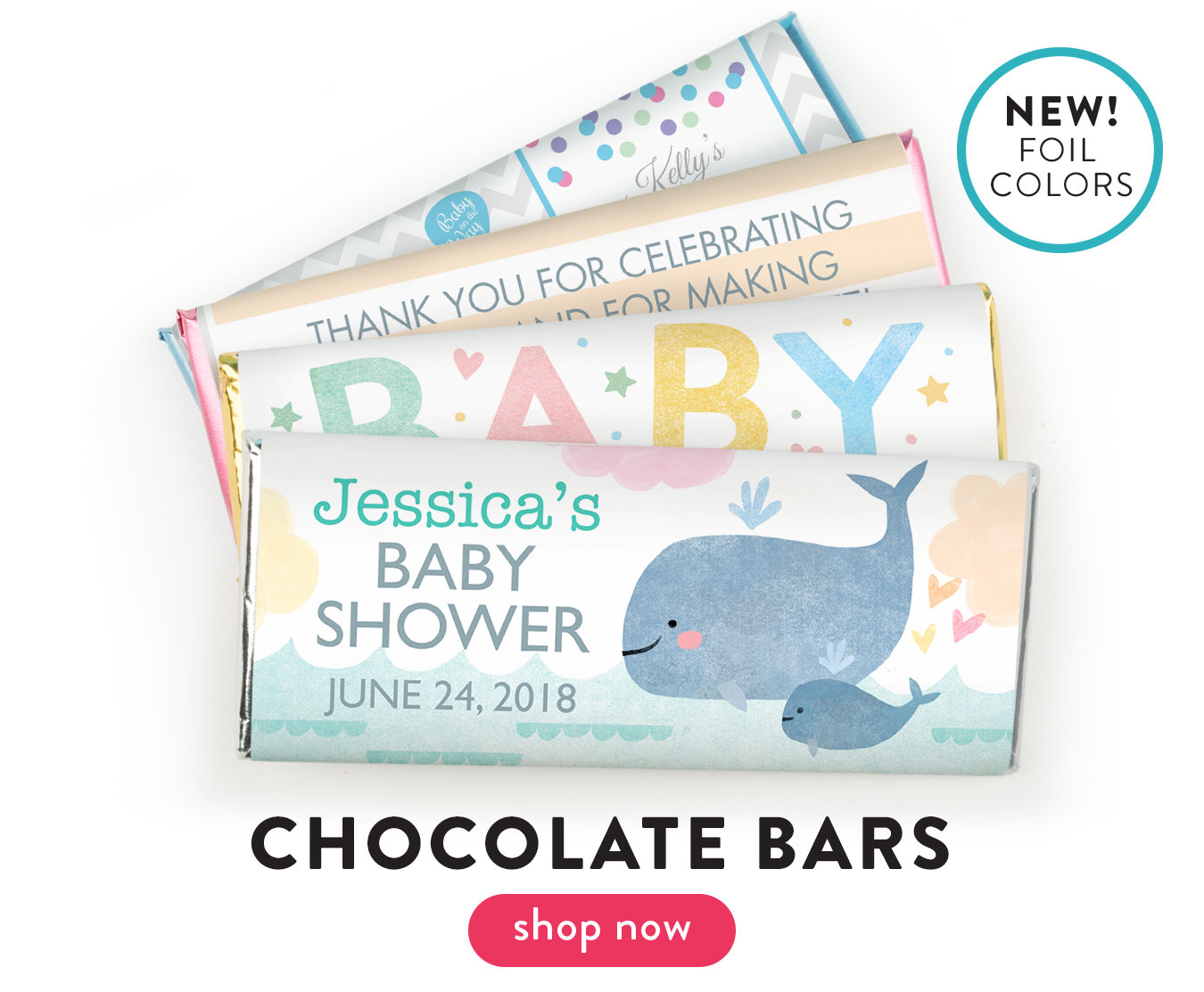 Shop Baby Shower Wrapped Bars