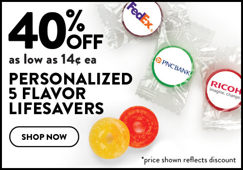 40% Off Personalized 5 Flavor Lifesavers