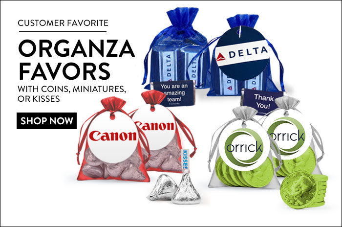 Personalized Business Organza Favors