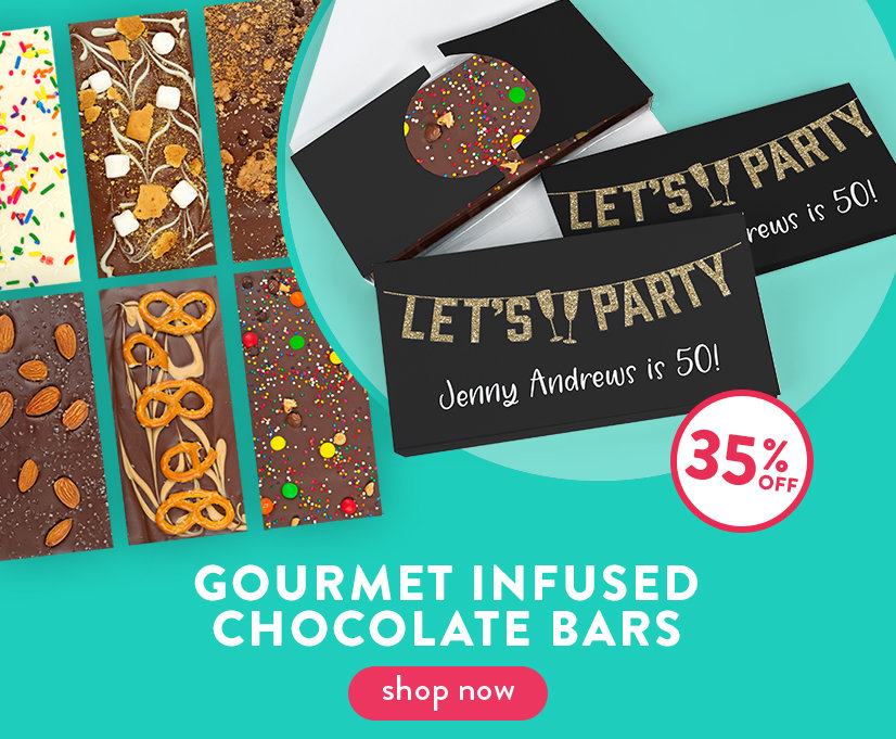 35% Off Infused Chocolate Bars Shop By Occasion