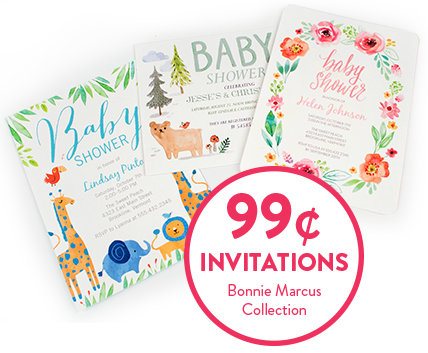 99 cent Baby Shower Invitations