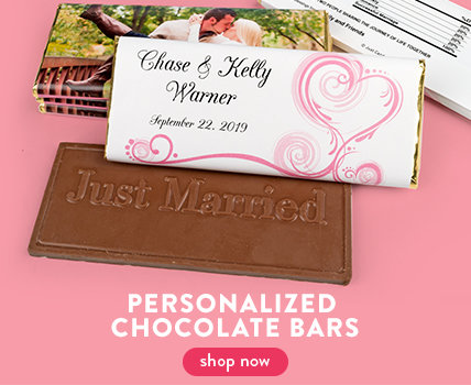 wedding reception chocolate bars