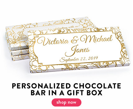 Wedding Chocolate Bar in a gift Box