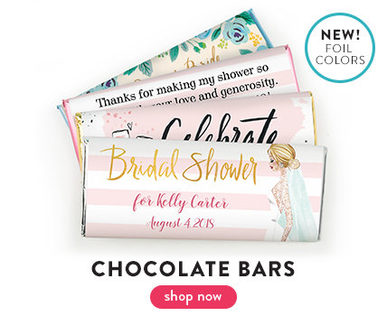 shop wedding shower wrapped candy bars