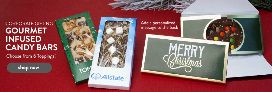 Corporate Christmas Gourmet Infused Candy Bars