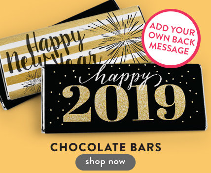 Personalized New Year's Eve Chocolate Bars