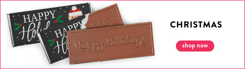 Personalized Christmas Embossed Chocolate Bars