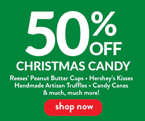 Christmas Candy Sale 50% off