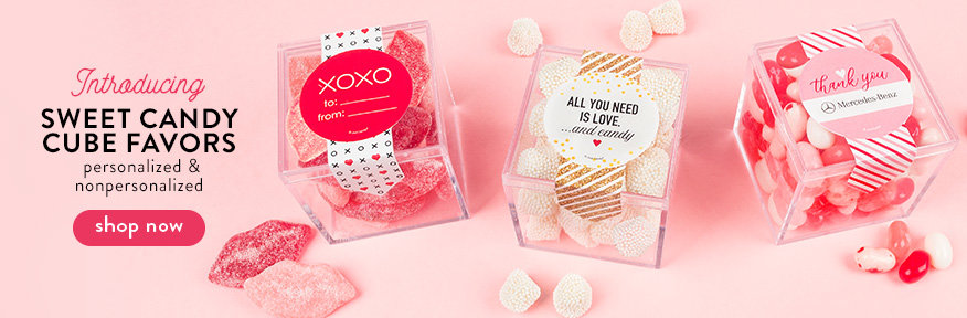 New 2019 Valentine's Sweet Candy Cube Favors