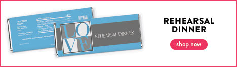 personalized rehearsal dinner chocolate bars