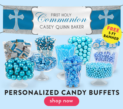 personalized communion candy buffets