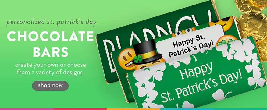 Shop Personalized St. Patricks Day Chocolate Bars