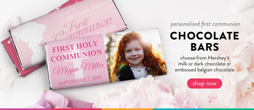 personalized communion candy bars for girls