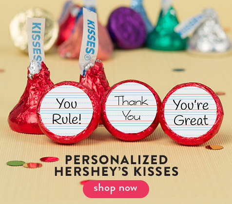 Shop Teacher Appreciation Personalized Hershey's Kisses