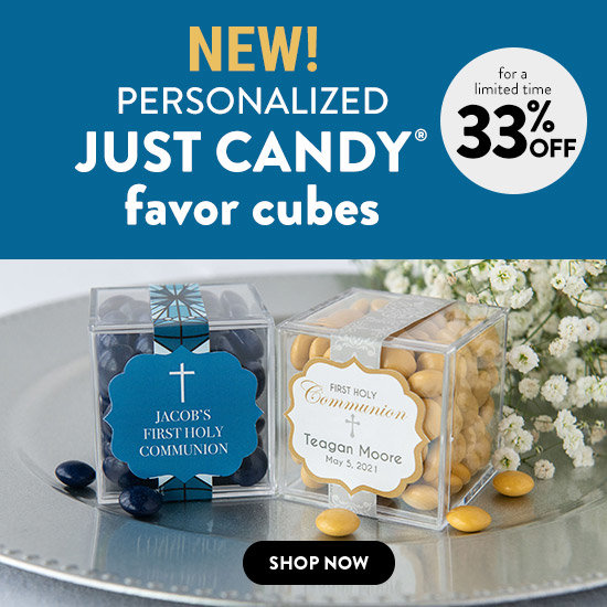 Shop Personalized JUST CANDY® favor cubes