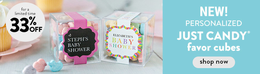 Shop New Baby Shower JUST CANDY favor cubes