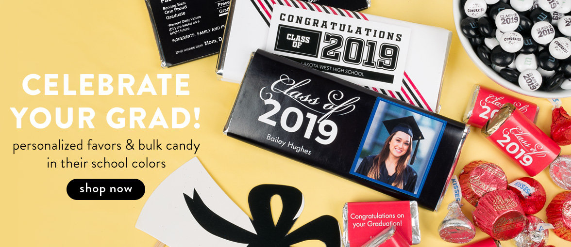 Personalized Graduation Favors & Candy
